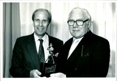 John King with Norman Tebbit.