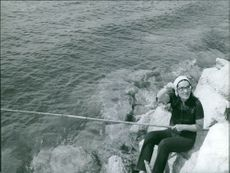 Nana mouskouri fishing.