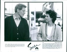"""Julia Karin Ormond and Harrison Ford in a scene from the  1995 movie, """"Sabrina""""."""