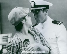 "Debra Winger and Richard Gere in a scene from ""An Officer and a Gentleman."""