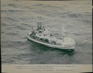 One of the fishing boats rejected from the fishing zone by a Soviet security vessel.