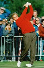 Golf player Colin Montgomerie during the Ryder Cup 1993