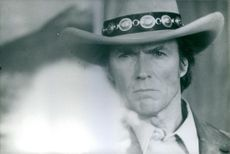 Close up of Clint Eastwood.