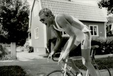 Tony Svensson, one of the triumphants in Stockholm, Sweden. Tony Svensson finished three after having had the lead during the cycling