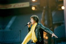 Mick Jagger during The Rolling Stone's performance at Stade de France