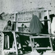 Women weaving in Isfahan, Iran.  - 1969