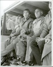 Liverpool FC: coach Roy Evans, player / manager Kenny Dalglish and coach Ronnie Moran