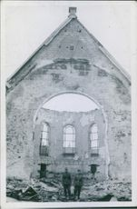 Church struck by Luftwaffe bombers during the Norwegian Campaign in Steinkjer, 1940.