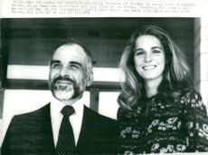 King Hussein of Jordan with his fiancé Elizabeth