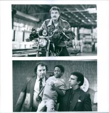 "1993  Scenes of Burton Leon ""Burt"" Reynolds, Norman D. Golden II, and Raymond ""Ray"" Sharkey, Jr. in   the movie Cop and a Half."