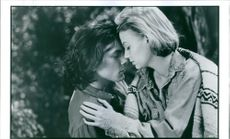 """River Phoenix and Samantha Mathis in the film """"The Thing Called Love"""". 1993."""