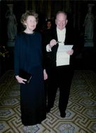 Actor Carl-Gustaf Lindstedt with wife at King's dinner