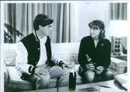 Still from the film Stealing Home with William McNamara and Yvette Croskey, 1988.