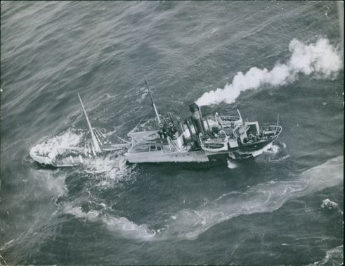 View of a ship in sea.