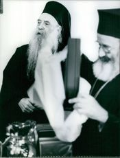 Athenagoras I looking at the side. 1967.