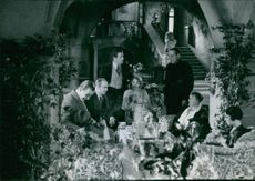 "A photo from a film ""A night on the sneak Holm"", 1933"