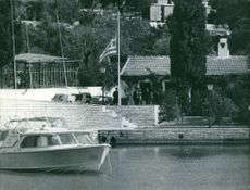 A yacht of Stavros Niarchos. 1969