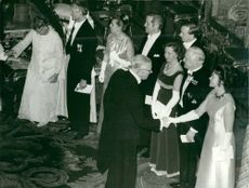 King's day at the castle. Concert pianist Käbi Laretei greets King Gustaf Adolf
