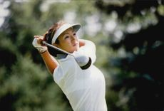 Golf player Grace Park during the US Women's Amateur Golf Championship 1998