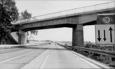 Autobahn A8 between Hanover and Berlin during repair.