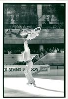 Ice skater Ian Jenkins performing with Tracey Solomons