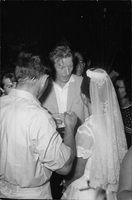 Danny Kaye and a woman in a wedding dress.