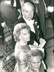 Sigvard Bernadotte and Wife at Stockholm's Castle