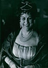 A photo of Renata Tebaldi smiling, 1960.