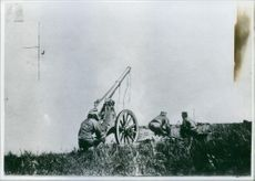 Russo- Japanese War 1904-1905 From the Battle of Liaoyang, soldiers using the canon.