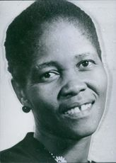 South African Personalities: Mrs. Lilian Ngoyi, President of the Women's League of the African National Congress and she is reportedly under arrest. 1960