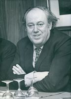Close up of British politician Sir Christopher Soames, while he looked towards the camera and smiling