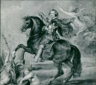 Sir Peter Paul Rubens: oil sketch of duke of buckingham.