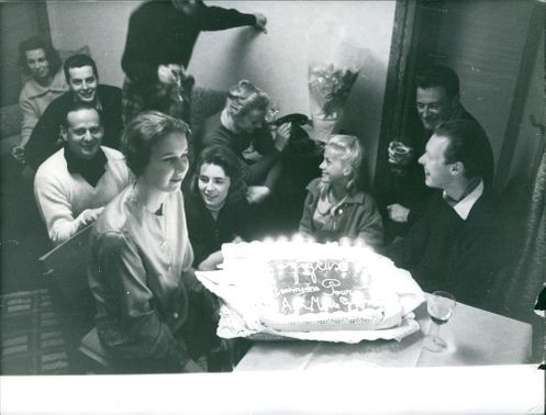 Princess Maria Gabriella of Savoy, in a celebration with family and friends.