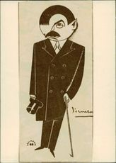 Illustration of Pierre Laval, Interior Minister France, by Unknown Teacher.