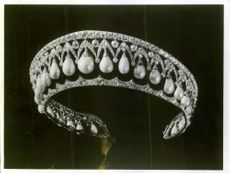 One of the diamond diadems that are part of the Russian crown jewels.