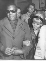 Ray Charles Robinson wearing goggles, smiling into the camera.