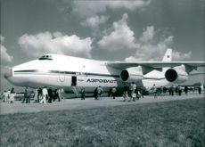 A photo of Soviet Aircraft Antonov AN-124.