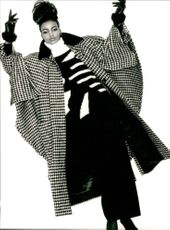Escada Autumn-Winter Collection 1986-1987 Coat, Trousers and Sweater