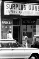 Photo of a gun store in the streets of Atlanta.
