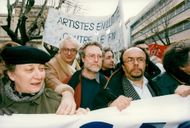 "France, demonstrations. The Socialist ""Train of Liberty"" demonstrates in the right-voting Toulon. Bertrand Tavernie"