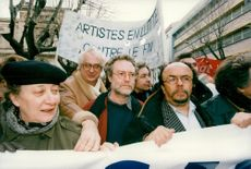 """France, demonstrations. The Socialist """"Train of Liberty"""" demonstrates in the right-voting Toulon. Bertrand Tavernie"""