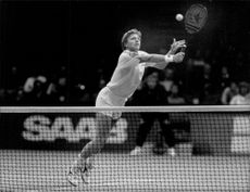 Boris Becker during the Stockholm Open.
