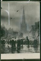 Coventry after raid by German bombers