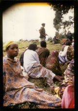 Rwanda war:displaced by the fightings in the region.