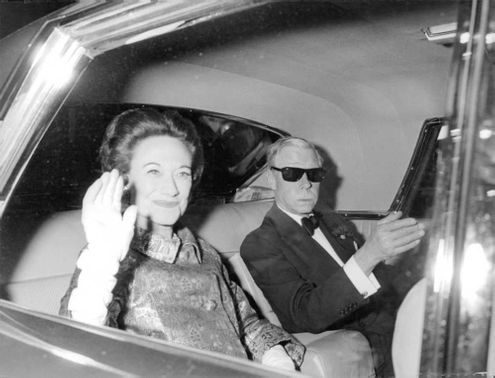 Duke of Windsor in car with his wife.