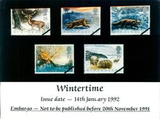 Stamps: British Commonwealth: Wintertime.