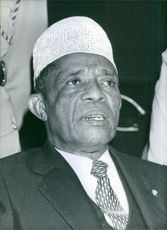 President Ahmed Abdallah of the Federal and Islamic Republic of the Comoros. 1981.