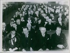 People gathered in National Association 25 Anniversary, 1933.
