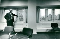 Olle Dahlén in his room in the new Parliament House overlooking Sergel's square