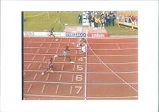 Linford Christie in a actual race.